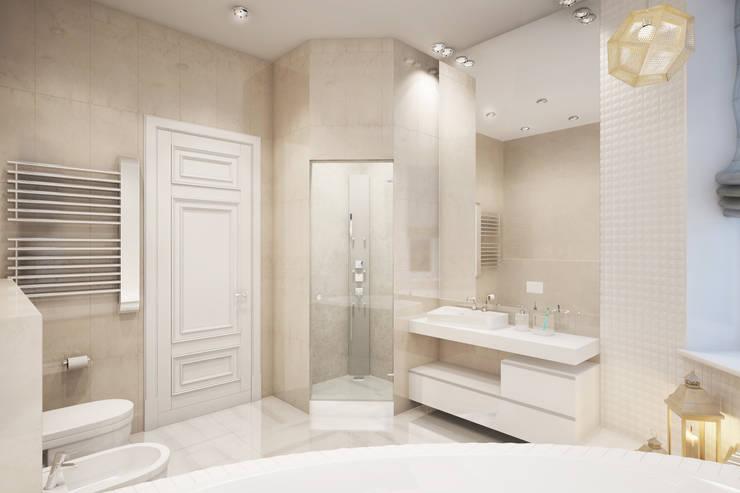 Квартира на ул. Гарибальди: Ванные комнаты в . Автор – FAOMI,