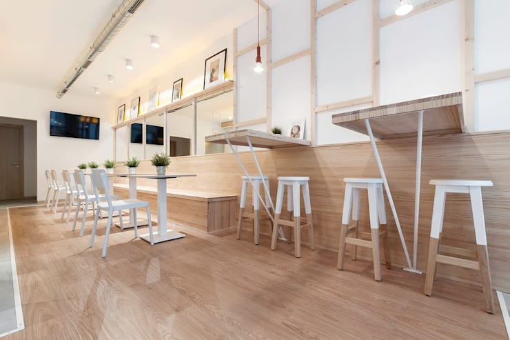 Cafe La Torta: Locales gastronómicos de estilo  de Nan Arquitectos, Rústico