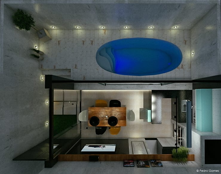 Área de Lazer Bonatto: Piscinas  por 285 arquitetura e urbanismo