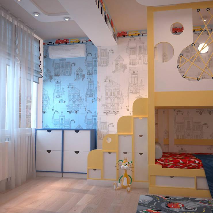 Сказочная детская с сырным домиком: Детские комнаты в . Автор – Студия дизайна Interior Design IDEAS