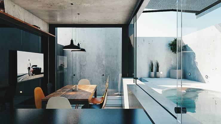 Área de Lazer Bonatto: Cozinhas  por 285 arquitetura e urbanismo