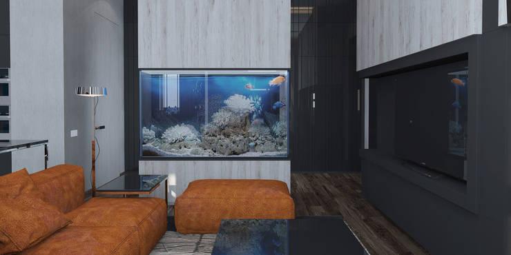 Квартира в ЖК <q>Александрия</q>: Гостиная в . Автор – Elena Potemkina