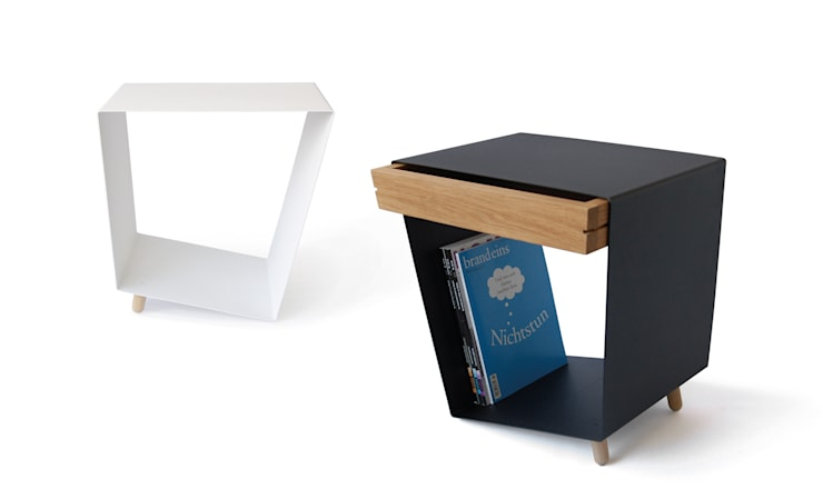 12° side table with and without drawer by chris+ruby de chris+ruby Moderno