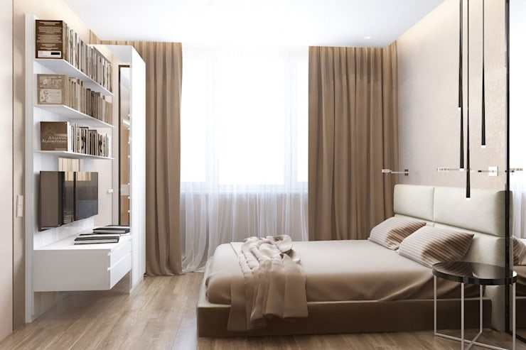 Квартира в ЖК Новопеределкино: Спальни в . Автор – Elena Potemkina