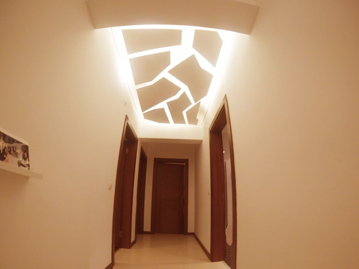 Gizem ONURMEN ARCHITECTS  – MAISON SE: modern tarz Koridor, Hol & Merdivenler