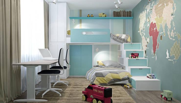 Квартира в ЖК Новопеределкино: Детские комнаты в . Автор – Elena Potemkina