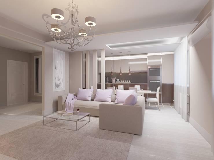 Современная квартира в Тюмени: визуализация: Ванные комнаты в . Автор – OK Interior Design,