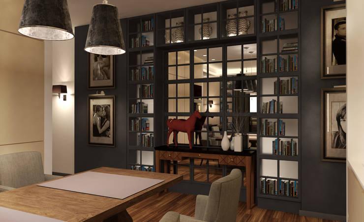 квартира в ЖК «КОНТИНЕНТАЛЬ»: Столовые комнаты в . Автор – KOSHKA INTERIORS,