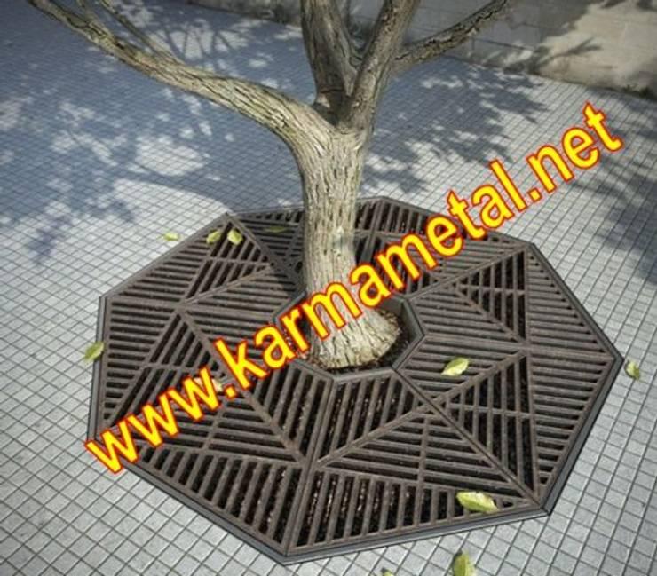 KARMA METAL – KARMA METAL - Ağaç Altı Dibi Izgarası:  tarz Kış Bahçesi, Endüstriyel