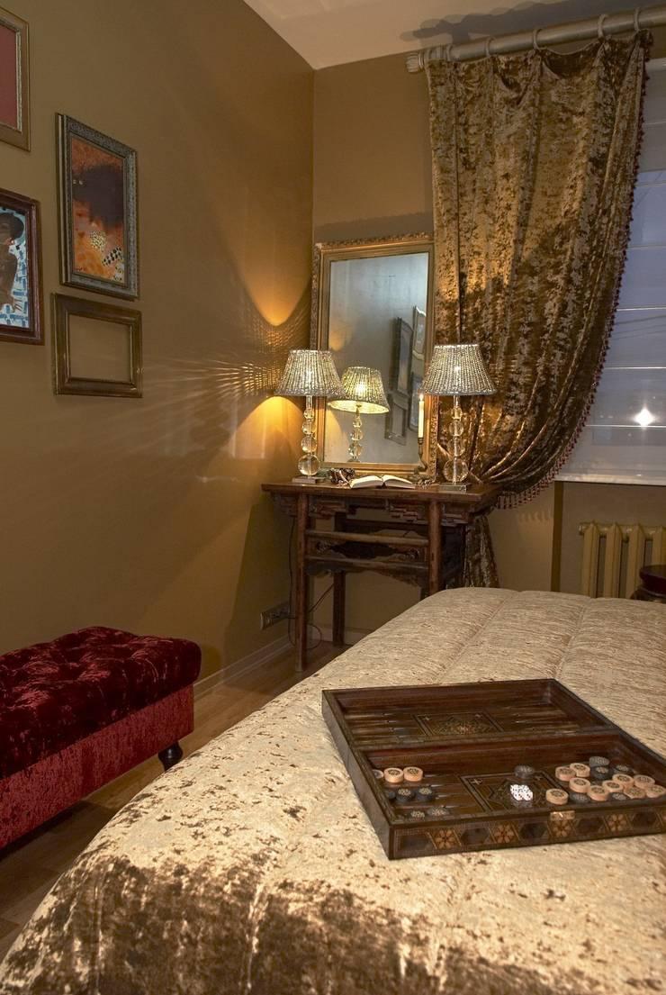 Квартира в старом московском доме: Спальная комната  в . Автор – Irina Tatarnikova