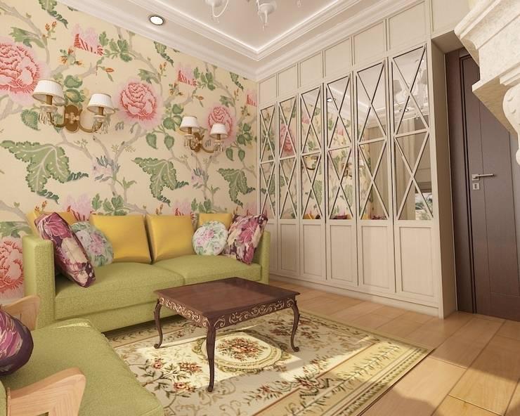 Квартира-мечта о Франции: Гостиная в . Автор – Дизайн-бюро Анны Шаркуновой 'East-West'