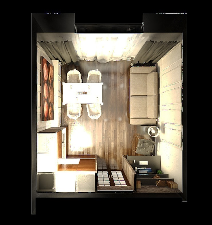 Квартира для пары с детьми: Гостиная в . Автор – Дизайн-бюро Анны Шаркуновой 'East-West'