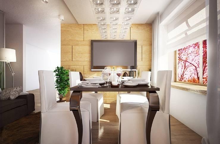 Квартира для большой семьи: Столовые комнаты в . Автор – Дизайн-бюро Анны Шаркуновой 'East-West'