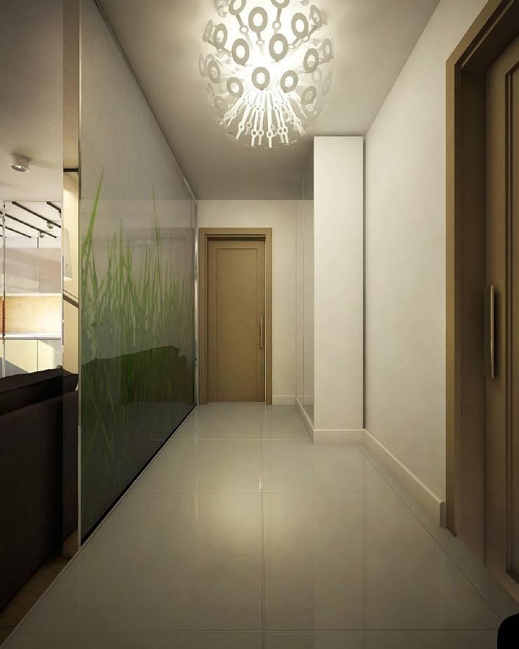 Квартира для большой семьи: Коридор и прихожая в . Автор – Дизайн-бюро Анны Шаркуновой 'East-West'