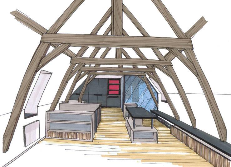 esquisse du projet:  de style  par Emilie Bigorne, architecte d'intérieur CFAI, Moderne