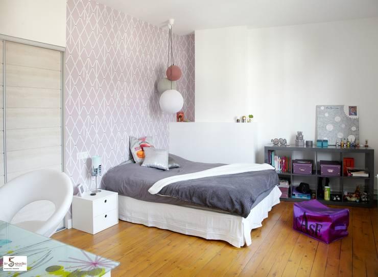 Agrandissement d'une chambre d'enfant: Chambre d'enfant de style  par Emilie Bigorne, architecte d'intérieur CFAI