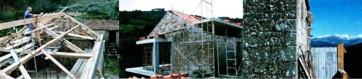 Aldeia das Dez - Durante a reconstrução:   por Almont - Projectos de Construção Civil, Lda.