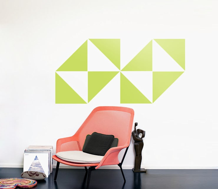 TRIANGLES | DREICKE M - Retro Deko Design DIY SET - Wandsticker - Muster :  Arbeitszimmer von Urban ART Berlin