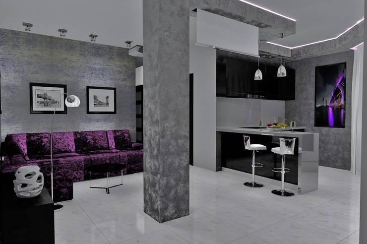 гостиная-кухня: Гостиная в . Автор – 3designik