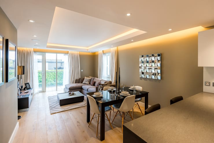 Lounge/Dining room Comedores de estilo moderno de In:Style Direct Moderno