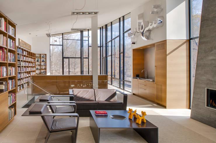 Projekty,  Salon zaprojektowane przez Robert Gurney Architect