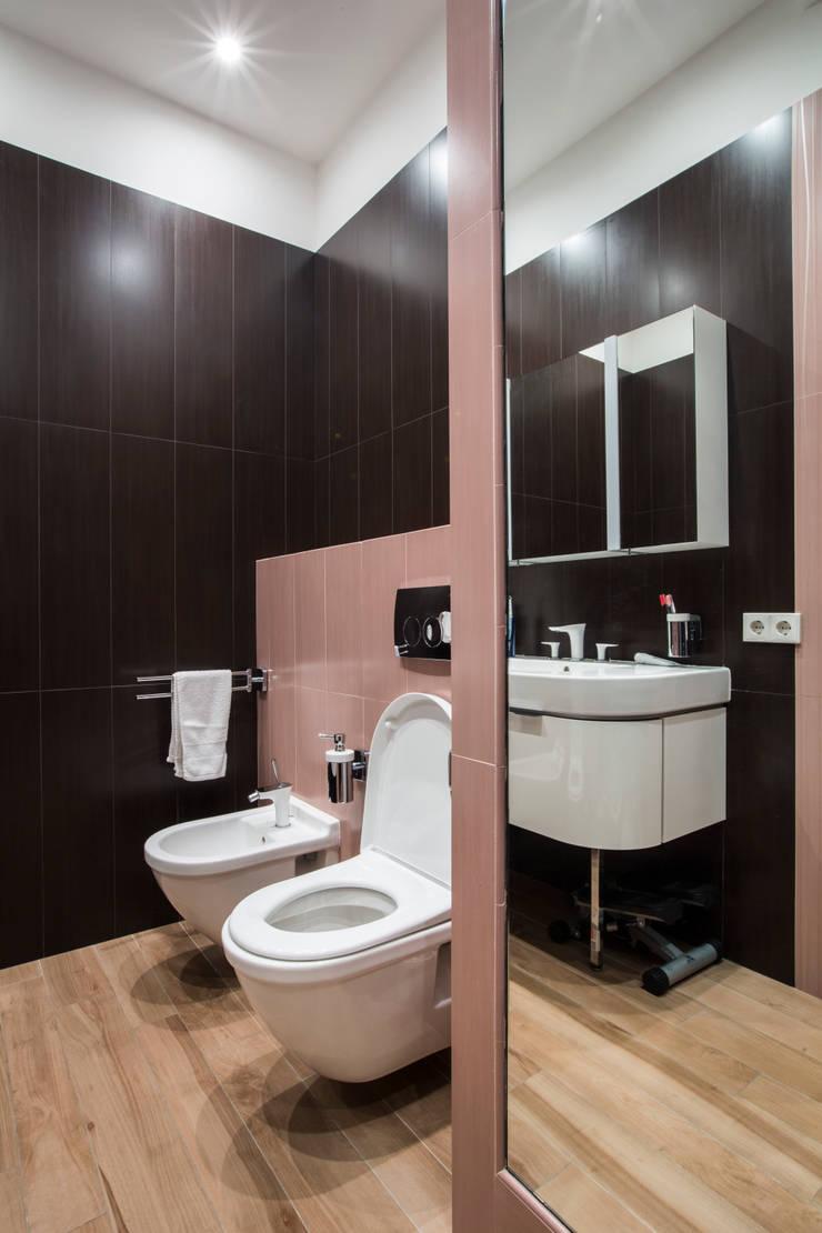 Санузел при спальне: Ванные комнаты в . Автор – ORT-interiors, Минимализм