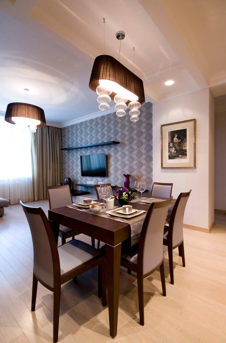 Гостиная-столовая: Гостиная в . Автор – ORT-interiors