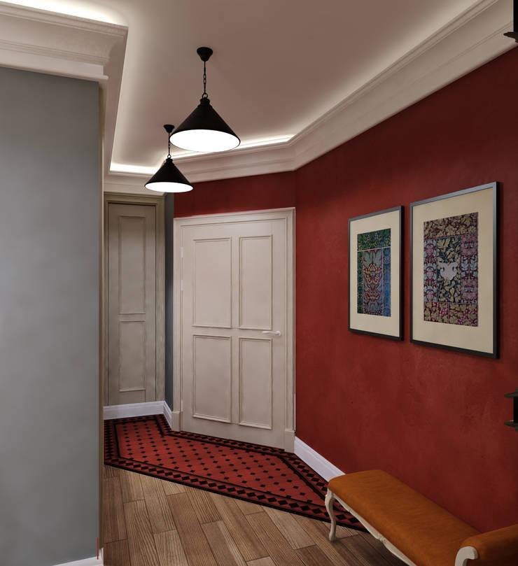 Pasillos y hall de entrada de estilo  por Сидорова Юлия, Ecléctico