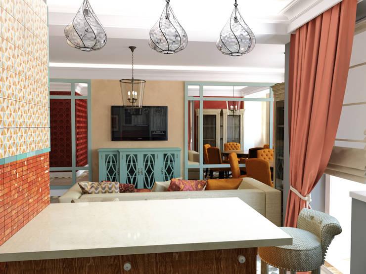 Phòng khách phong cách chiết trung bởi Сидорова Юлия Chiết trung