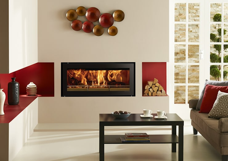 mediterranean Living room تنفيذ Stovax Heating Group