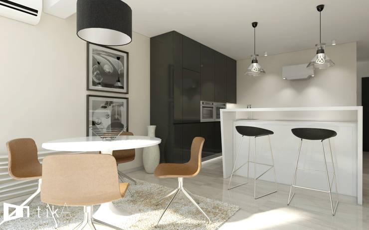 Wnętrze apartamentu, Kęty: styl , w kategorii Jadalnia zaprojektowany przez TIKA