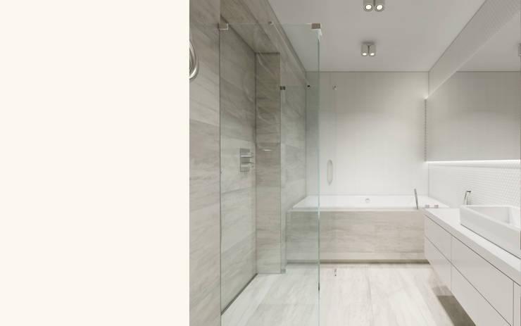 Wnętrze apartamentu, Kęty: styl , w kategorii Łazienka zaprojektowany przez TIKA