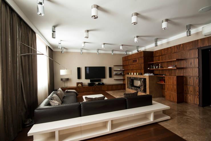 Гостиная: Гостиная в . Автор – ORT-interiors, Минимализм