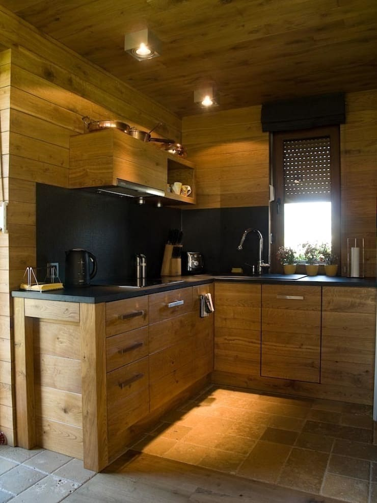 kuchnia: styl , w kategorii Kuchnia zaprojektowany przez CUBICPROJEKT