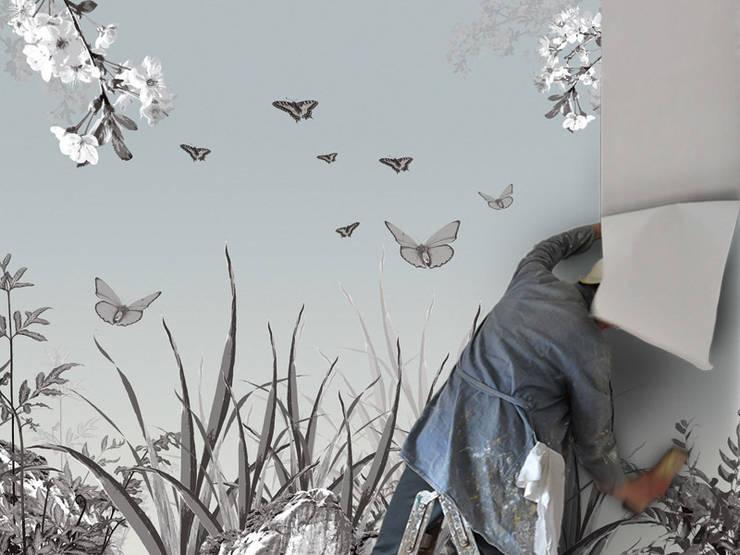Panorama-Motiv Dschungel mit Papageien:   von Gaedke Tapeten