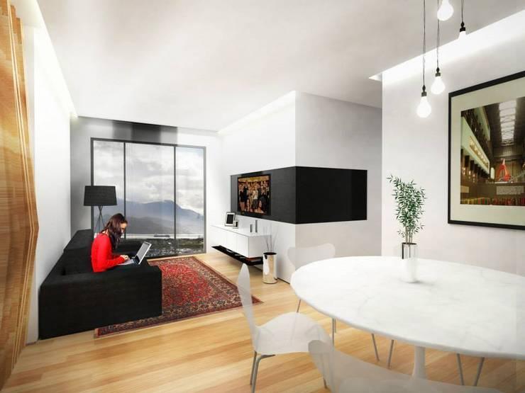 Sala de Jantar: Salas de jantar minimalistas por Paula Werneck Arquitetura