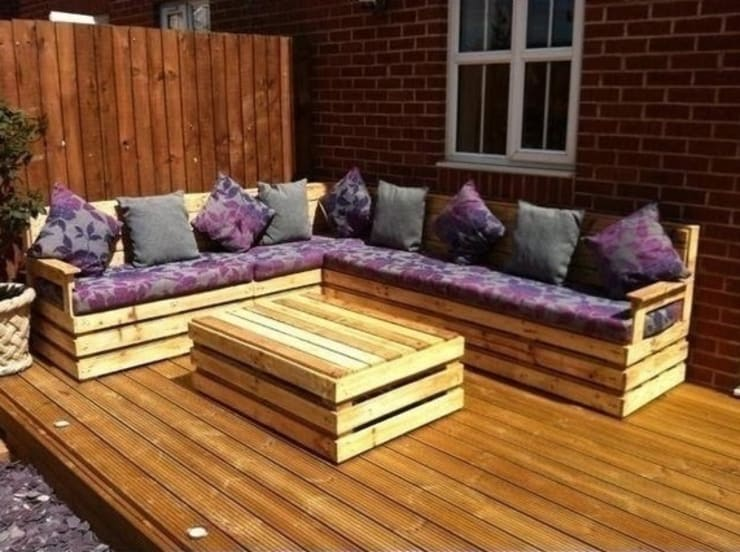 Jardines de estilo  por Pallet furniture uk