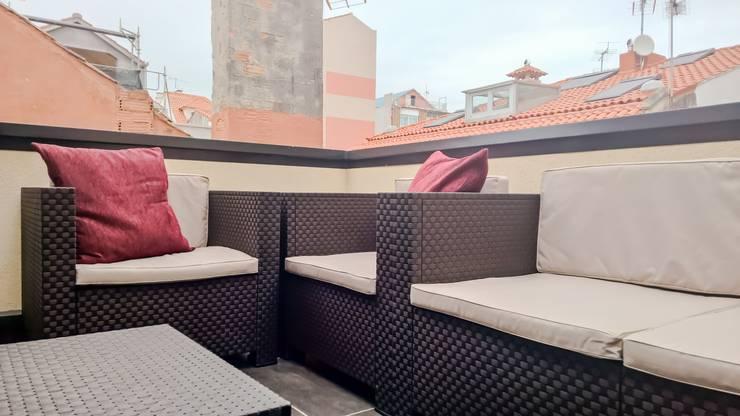 Terraza: Terrazas de estilo  de KM Arquitectos