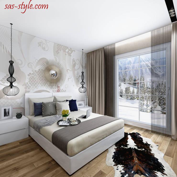 Загородный дом 160 м.кв: Спальни в . Автор – Студия Аксаны Ситниковой