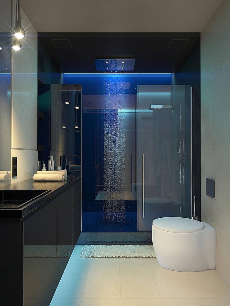 ЖК Адмиральский 2: Ванные комнаты в . Автор – Dmitriy Khanin, Минимализм