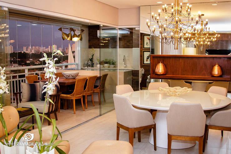Jantar e Varanda - G|A: Sala de jantar  por Carolina Fagundes - Arquitetura e Interiores,