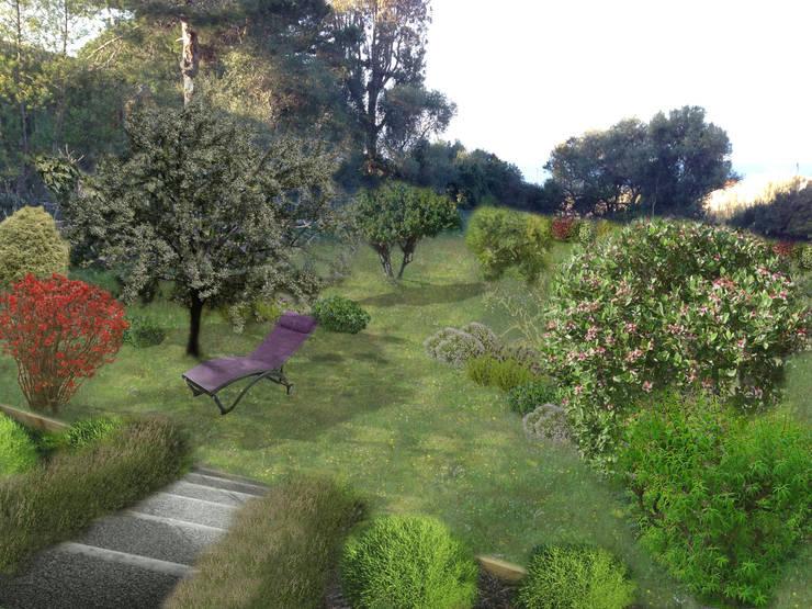 proposition d'aménagement jardin 2ème villa: Jardin de style  par In&Out Garden