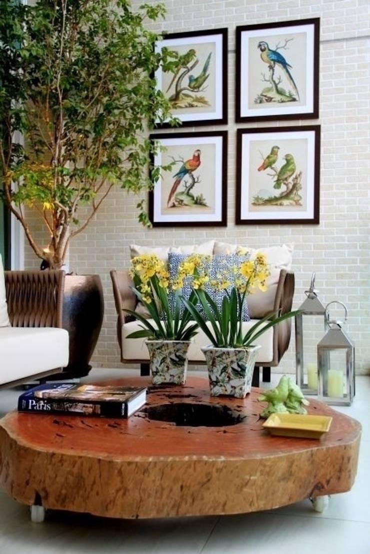Varanda - C H: Terraços  por Carolina Fagundes - Arquitetura e Interiores
