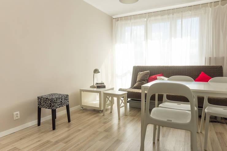 Mieszkanie na wynajem: styl , w kategorii  zaprojektowany przez Autorska Pracownia Projektowa Joanna Gostkowska-Białek