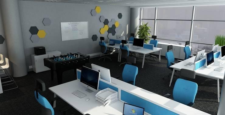 Biuro informatyczne: styl , w kategorii Biurowce zaprojektowany przez Autorska Pracownia Projektowa Joanna Gostkowska-Białek