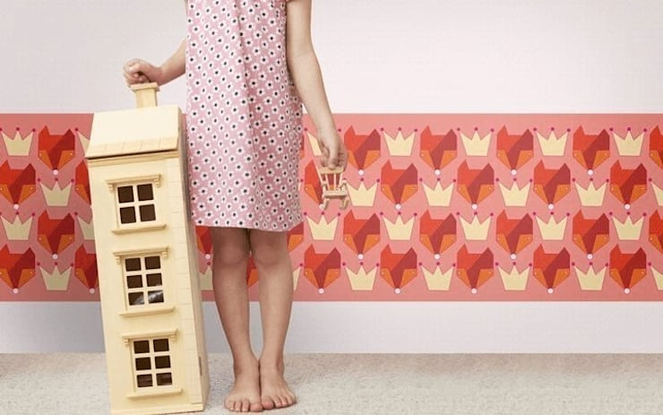 Bordüre Foxes, for her:  Kinderzimmer von Designstudio DecorPlay