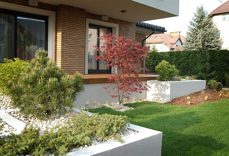 klon japoński : styl , w kategorii  zaprojektowany przez Autorska Pracownia Architektury Krajobrazu Jardin ,