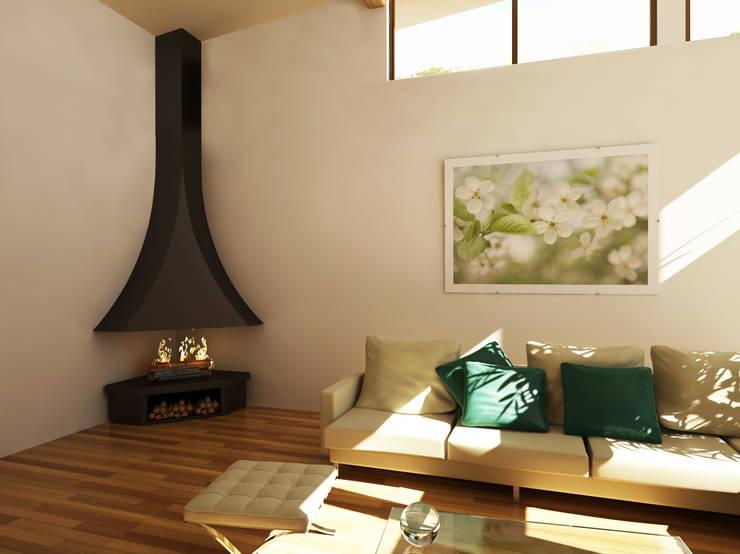 Ekofen ısı sistemleri – Raco Flame:  tarz Oturma Odası
