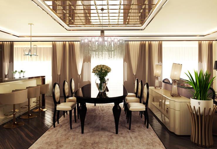 Квартира на Фрунзенской: Столовые комнаты в . Автор – LEO Company