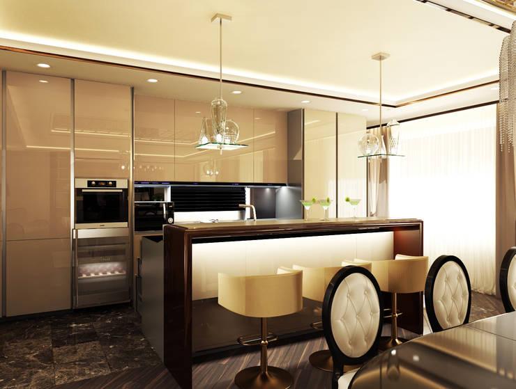 Квартира на Фрунзенской: Кухни в . Автор – LEO Company